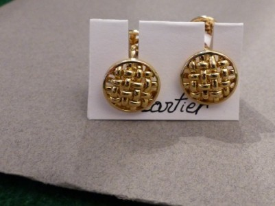 Cartier : boutons manchettes or jaune
